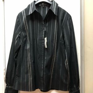 BRAND NEW Mens Black and Silver long sleeve shirt.